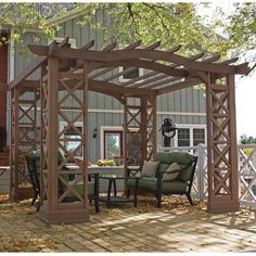 Found it at Wayfair - Arched Roof Pergola Kit in Greyhttp://www.wayfair.com/daily-sales/p/Embrace-Autumn%3A-Outdoor-Furniture-Arched-Roof-Pergola-Kit-in-Grey~TYD1161~E13940.html?refid=SBP.ERkQrCfU7FDruuIBAux2FtC8Zs3Py0ndgEI7ujl7LPo