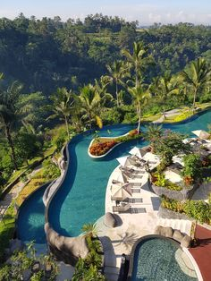 The longest infinity pool in Bali is found at Padma Ubud Resort and is one of the best hotels on the island