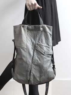 eric beauduin - bags made out of leather jackets.
