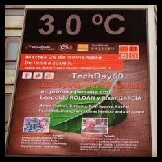 Un nuevo #TechDay60 y en esta ocasión me tocó contar mi historia ...en primera persona. Hablamos de Marca Personal y quien mejor que @Taxi Oviedo para ello? Para que luego digan que en #Burgos te quedas frío!!! (24/11/2013)