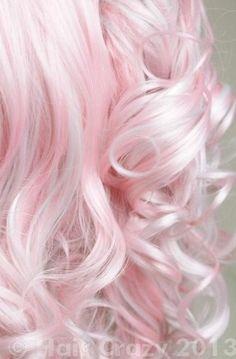 White / Pink Pastel Hair