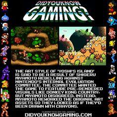 Shigeru Miyamoto rebelled against Nintendo on the the art style of Yoshi's Island?