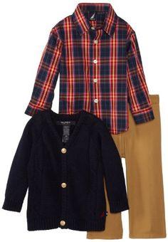 Nautica Baby-Boys Infant Cardigan Sweater Set