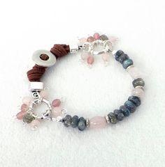 Showcase one of Panetones recently announced colors for 2016 - rose quartz - each time you wear this delicious labradorite, rose quartz and