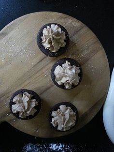 Salted dark choc cupcakes with a dollap of Nutella in the centre and a Nutella cream buttercream.These were so yummy :) 21st Cake, Nutella, Baked Goods, Centre, Cupcakes, Cream, Dark, Desserts, Food