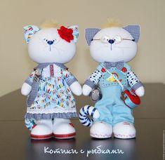 Купить Котики с рыбками - голубой, котики, кот, кошка, котенок, коты, игрушка кот, морской