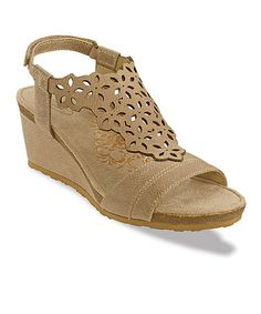 Loving this Taupe Francesca Leather Sandal on #zulily! #zulilyfinds