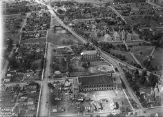 Aerial Photograph of Port Arthur, 1936 Hillcrest High School, Port Arthur, Red River, Aerial Photography, Thunder, Ontario, Paris Skyline, City Photo, Park