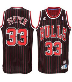 quality design d18cc e0ec1 Chicago Bulls Scottie Pippen Throwback  33 Pinstripe Away Jersey