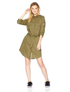 Roxy Women's Khaki Sphere Shirt Dress ** You can get more details by clicking on the image. (This is an affiliate link)