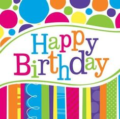Bright and Bold Happy Birthday Lunch Napkins. One package of 16 Bright and Bold Happy Birthday Paper Lunch Napkins. Birthday Party Snacks, Birthday Lunch, Birthday Party For Teens, Birthday Desserts, Happy 2nd Birthday, Happy Birthday Messages, Happy Birthday Images, Happy Birthday Greetings, Birthday Quotes