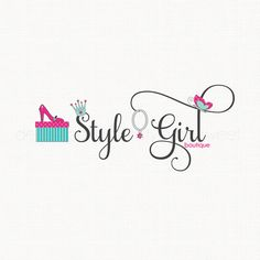 Fashion Logo Design Shoe Crown By Stylemesweetdesign