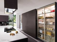 concealed kitchen.