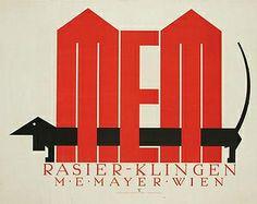 MEM Klingen Razors ad (1922), by Julius Klinger (1876-1942)