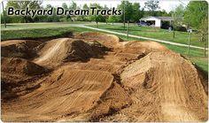 dirt bike track in backyard   Advice on Pit bike track!