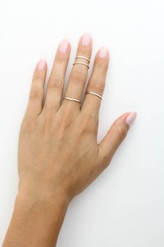 One Love Band Ring - KATIE DEAN JEWELRY Katie Dean Jewelry, Bold Rings, Love Band, Party Rings, Dainty Ring, Party Looks, Stacking Rings, First Love, Jewlery