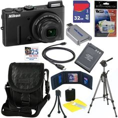 Nikon COOLPIX P310 16.1 MP CMOS Digital Camera with 4.2x Zoom & HD Video (Black) + EN-EL12 Battery + 10pc Bundle 32GB Deluxe Accessory Kit by Nikon. $259.95. Your vision doesn't cease at sunset Imagine the beautiful imagery you can capture with a camera that provides incredible performance in low-light scenarios. Meet the COOLPIX P310: the serious photographer's pocket companion when mobility is necessary and light is fleeting. The P310 will astound you with its incredible quali...