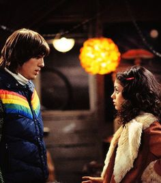Kelso (Ashton Kutcher) and Jackie (Mila Kunis) from That 70's Show