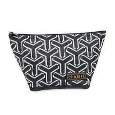 Medium Cosmetic Bag, Jet Set Black   http://www.bonkersforbags.com/cinda-b-medium-cosmetic-bag?variantId=1161
