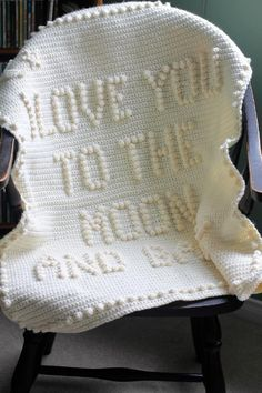 I love you to the moon and back crochet baby blanket pattern etsy i love you to the moon and back baby blanket crochet pattern by kim l Crochet Baby Blanket Beginner, Easy Baby Blanket, Baby Boy Blankets, Crochet Blanket Patterns, Baby Patterns, Crochet Blankets, Crochet Afghans, Baby Afghans, Square Patterns