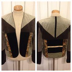 Vintage 70s velvet patchwork blazer coat on Etsy, $38.00