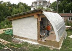 Passive solar greenhouse.