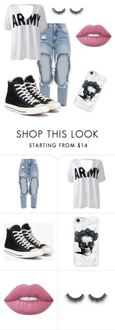 """8"" by fefi-89 on Polyvore featuring Sans Souci, Converse and Casetify"