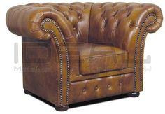 fotel Chesterfield, styl angielski, armchair, głęboko pikowany, skóra, skin, brązowy, brown,  antique, comfortable, wygodny  fotel_chesterfield_winchester_01.jpg (591×410)