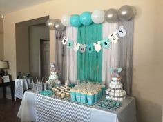 Being a baby shower hostess doesn't have to be stressful! Relax, put your feet up, and get ready to host the cutest baby shower party ever! By the time you are done here, you will have all of the tools… Continue Reading → Decoracion Baby Shower Niña, Idee Baby Shower, Cute Baby Shower Ideas, Shower Bebe, Simple Baby Shower, Baby Shower Table, Beautiful Baby Shower, Baby Shower Decorations For Boys, Boy Baby Shower Themes