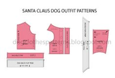 santa claus dog free clothes patterns