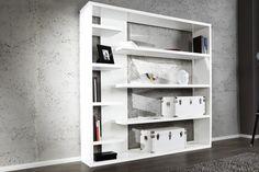 Riesiges Regal BIG BLANC weiss hochglanz 200cm Standregal Bücherregal  bei Riess Ambiente
