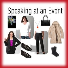 """Speaking at an Event, 4/9/2014"" by beautyandserendipity on Polyvore"