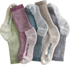 Our Smartwool Hiking Socks - Not only does SmartWool outperform cotton, it outperforms other wool! With SmartWool, there's no itching, no scratching — no shuffling around, just to appease irritated ankles or toes.
