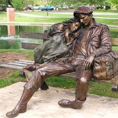 Bronze Sculpture by George Lundeen, Street Art Art Sculpture, Bronze Sculpture, Statue En Bronze, San Francisco Art, New York Art, Public Art, Oeuvre D'art, Art World, Amazing Art