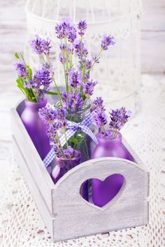 flowers and lavender resmi