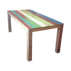 Boat Wood Dining Table Reclaimed Wood Furniture Smithers of Stamford Store UK, US, EU Vintage Furniture, Cool Furniture, Furniture Design, Dining Room Table, Dining Area, Boat Table, Reclaimed Wood Furniture, Color Pop, Stamford