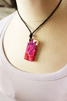 Hey, I found this really awesome Etsy listing at https://www.etsy.com/listing/236225069/hand-painted-pink-flower-necklace-pink