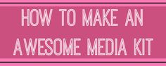 A media kit can help you to promote your blog, and show off the details that make you unique.