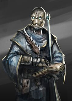 Sketch no. 332 Warforged Wizard by Olieart on DeviantArt Fantasy Character Design, Character Concept, Character Art, Concept Art, Fantasy Races, Fantasy Rpg, Medieval Fantasy, Fantasy Comics, Dungeons And Dragons Characters
