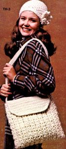 NEW! Hat & Bag Set crochet pattern from Things to Knit & Crochet, Leaflet 2576.
