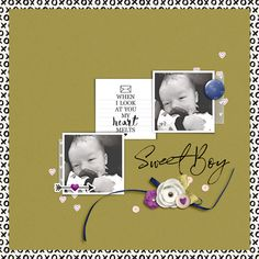Sweet Boy - Scrapbook.com