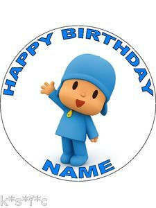 POCOYO round cake topper 7.5 inches