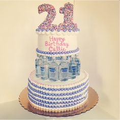 21st Birthday cake {The Createrie, Philadelphia}
