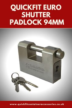Padlock High Duty Security Shed Shutter Container Gate Steel Lock 5 Keys 94MM