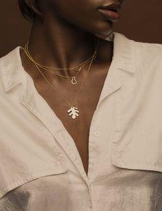Leaf necklace /gold plated - KOPI- Natalia kopiszka -