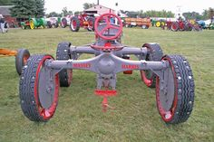 Arlen Salmela's 1931 Massey-Harris GP tractor. The GP was an early leader in four-wheel drive technology.