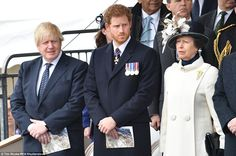 dailymail-War Memorial Unveiling, London, March 9, 2017-Prince Harry and the Princess Royal with Boris Johnson