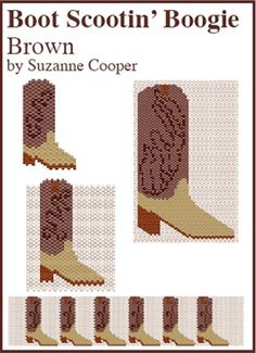 Boot Scootin' Boogie, Boot Set, Brown by Suzanne Cooper