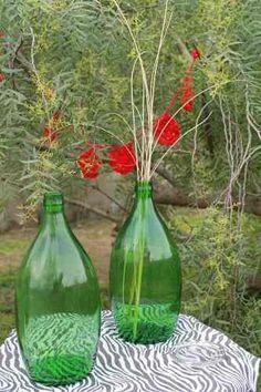 Botellon Vidrio Verde 3lt - Damajuana Impecable
