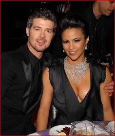 Paula Patton and Robin Thicke.  Now I'm no Star-Fucker, but, sweet jesus, this couple is gorgeous-looking.
